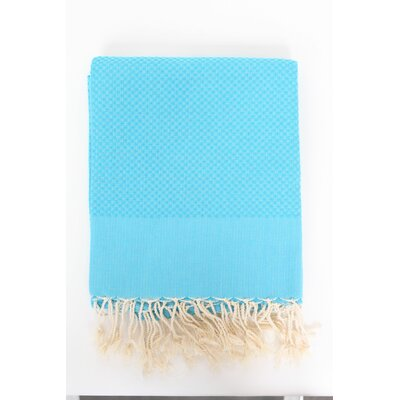 Sumner Solid Honeycomb Bath Towel Color: Turquoise