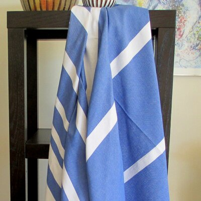 Fouta Striped Bath Towel Color: Blue Jeans / White