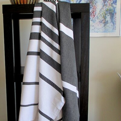 Fouta Striped Bath Towel Color: Black / White
