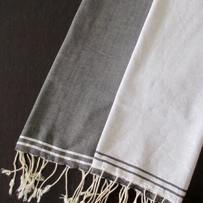 Scents and Feel Split Fouta Towel - Color: White / Black at Sears.com
