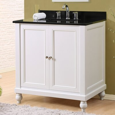 32 Single Vanity Set Top Finish: Black Granite