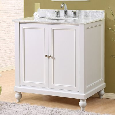 32 Single Vanity Set Top Finish: White Carrara