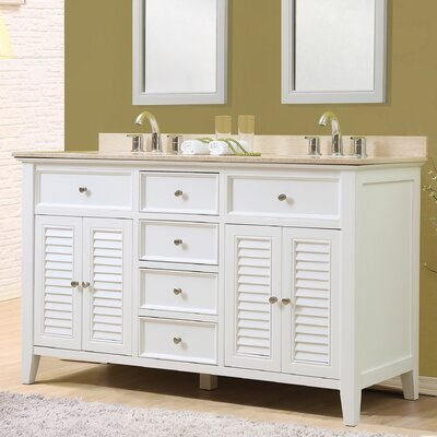 Shutter 60 Double Vanity Set Top Finish: Beige