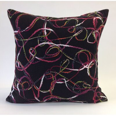 Memphis Throw Pillow Color: Black Multi