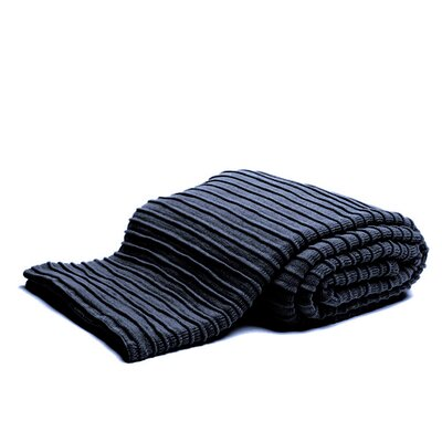 Pleated Knit Throw Color: Lapis