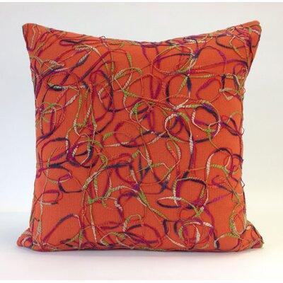 Memphis Throw Pillow Color: Orange Multi