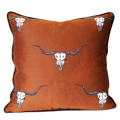 Go Longhorns Throw Pillow Color: Sienna