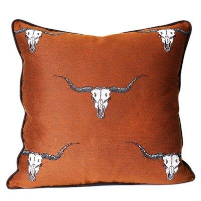 Go Longhorns Throw Pillow Color: Sienna