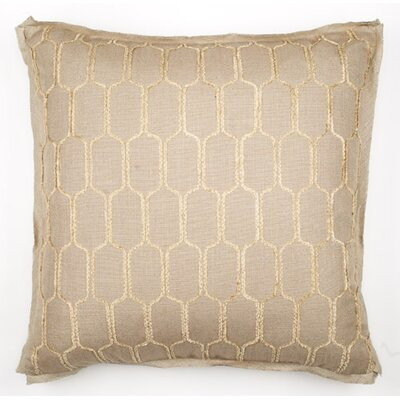 Bergama Throw Pillow Color: Stone