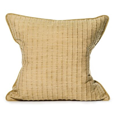 Rattan Throw Pillow Color: Camel