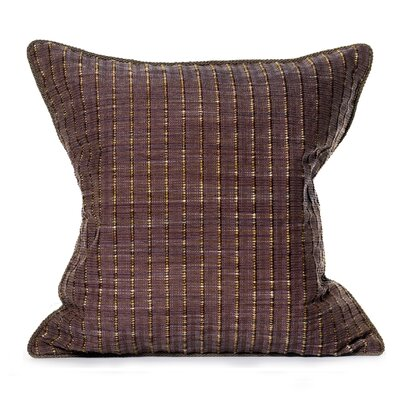 Rattan Throw Pillow Color: Mulberry