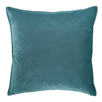Franklin Velvet Throw Pillow Color: Prussian