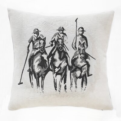 Polo Pony Noir Throw Pillow