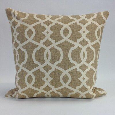 Tessa Wheat Cotton Throw Pillow