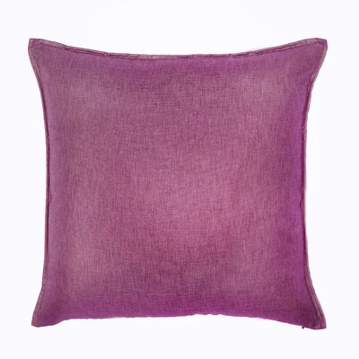 Bedford Throw Pillow Color: Raspberry