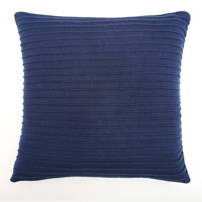 Pleated Knit Throw Pillow Color: Lapis