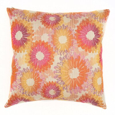 Palmilla Throw Pillow Color: Azalea