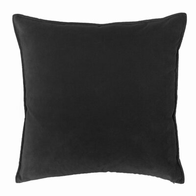 Franklin Velvet Throw Pillow Color: Black
