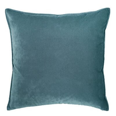 Franklin Velvet Throw Pillow Color: Pavo