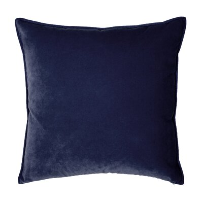 Franklin Velvet Throw Pillow Color: Indigo