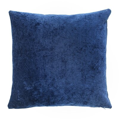 Lucca Throw Pillow Color: Sapphire