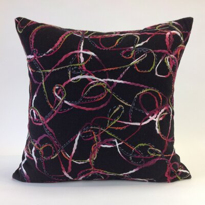Memphis Throw Pillow Color: Black/Multi