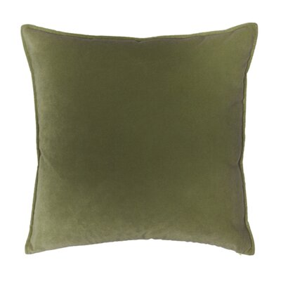 Franklin Velvet Throw Pillow Color: Lichen