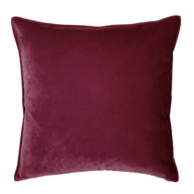 Franklin Velvet Throw Pillow Color: Cordovan