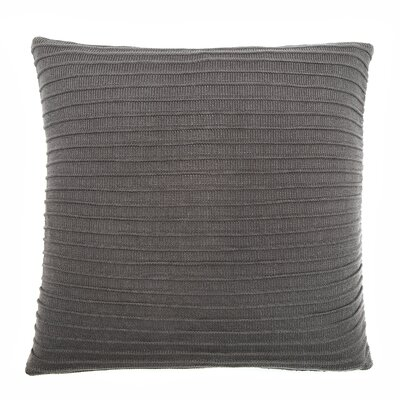 Pleated Knit Throw Pillow Color: Flannel