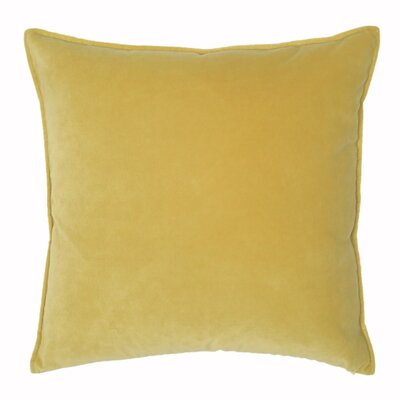 Franklin Velvet Throw Pillow Color: Tumeric