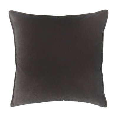 Franklin Velvet Throw Pillow Color: French Roast