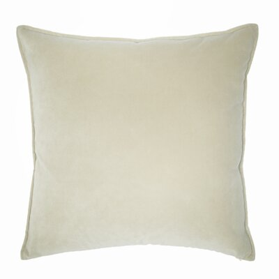 Franklin Velvet Throw Pillow Color: Snow