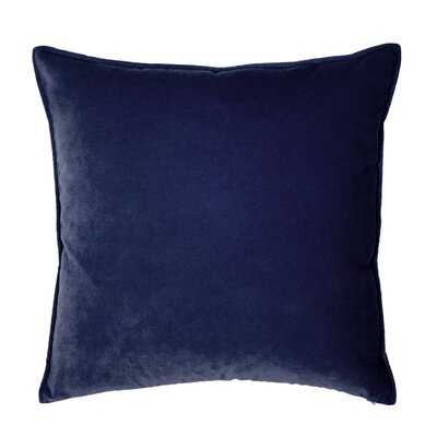 Franklin Velvet Throw Pillow Color: Lapis