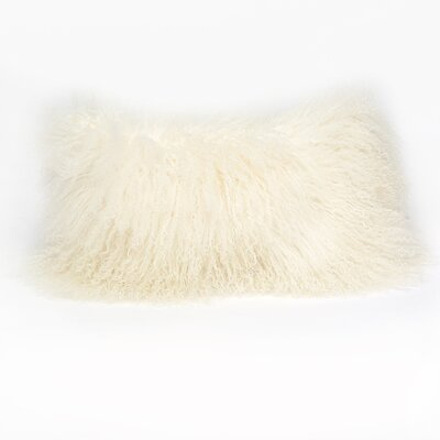 Tibetan Lamb Lumbar Pillow Color: Ivory