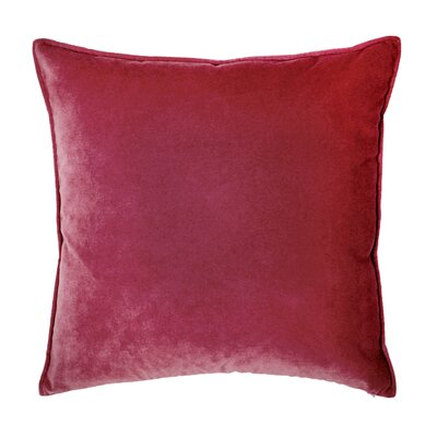Franklin Velvet Throw Pillow Color: Escarlata
