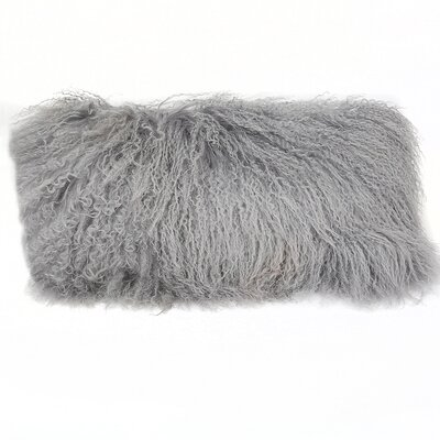 Tibetan Lamb Lumbar Pillow Color: Gray