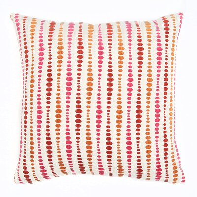 Riga Throw Pillow Color: Grenadine