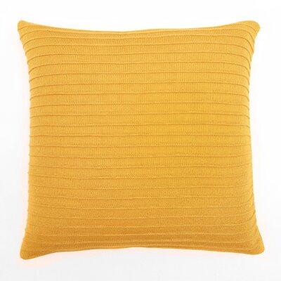 Pleated Knit Throw Pillow Color: Saffron