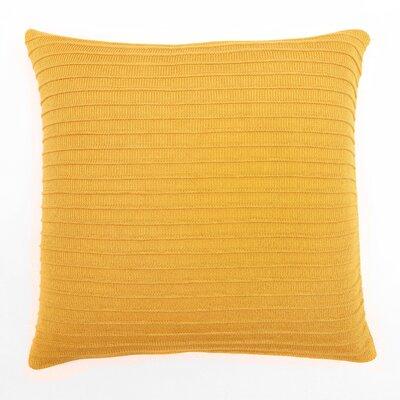Pleated Knit Throw Pillow Color: Saffron