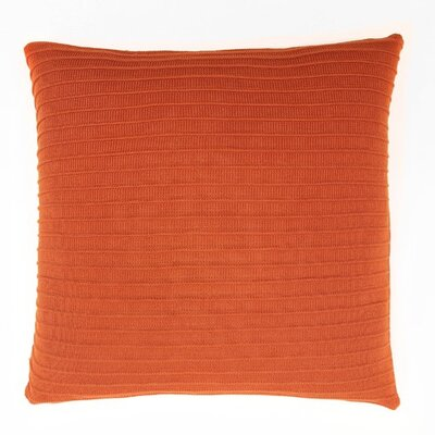 Pleated Knit Throw Pillow Color: Terra cotta