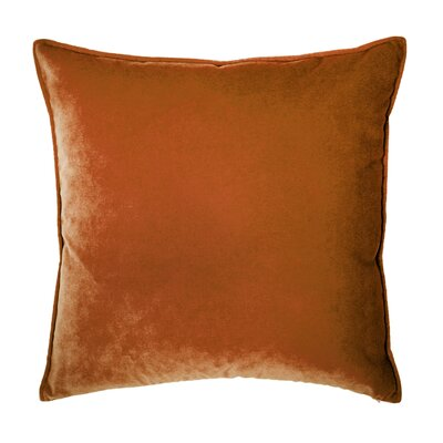 Franklin Velvet Throw Pillow Color: Marmalade