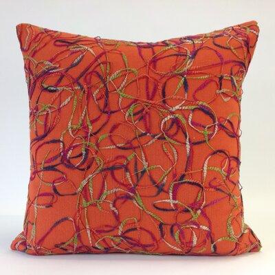 Memphis Throw Pillow Color: Orange/Multi
