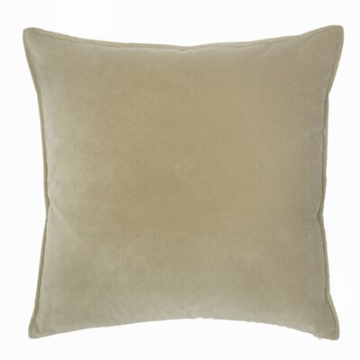Franklin Velvet Throw Pillow Color: Taupe