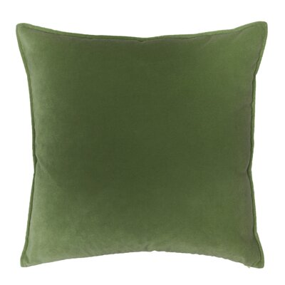 Franklin Velvet Throw Pillow Color: Vert Lichen