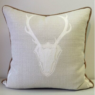 Oh Deer Cotton Throw Pillow Color: Tusk