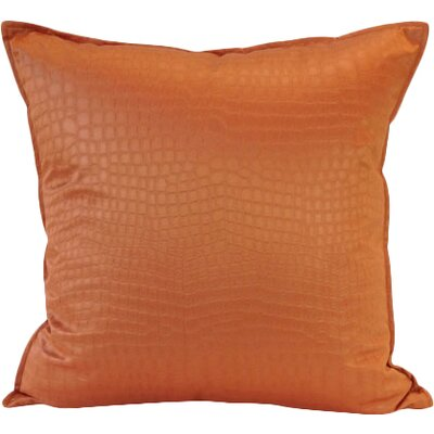 Amazon Throw Pillow Color: Tangerine