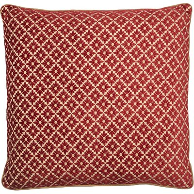 Vienna Throw Pillow Color: Red