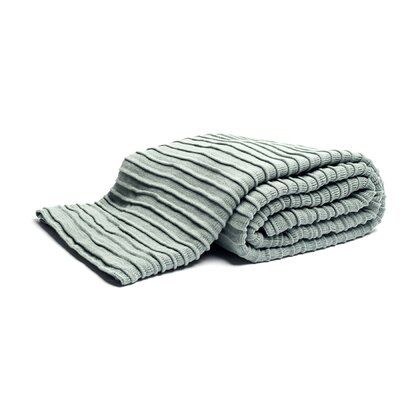 Pleated Knit Throw Color: Blue Mist