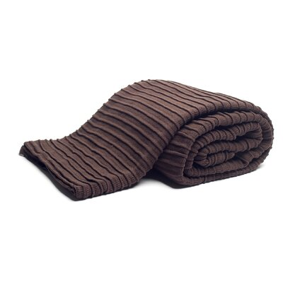 Pleated Knit Throw Color: Brown