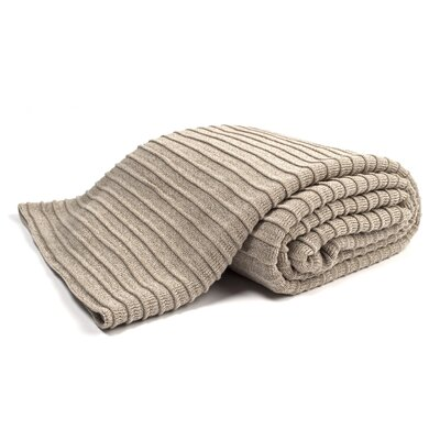 Pleated Knit Throw Color: Flax